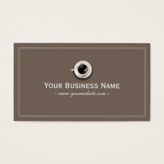 Cartão de visita liso simples da cafetaria