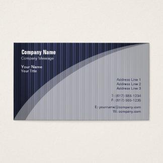 Cartão de visita listrado azul elegante