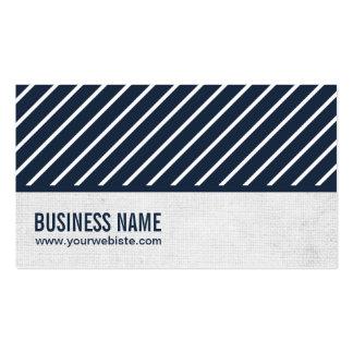 Cartão de visita listrado de Snowshoeing dos azuis