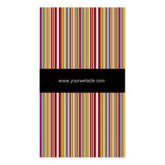 Cartão de visita listrado do modelo da cor do arco