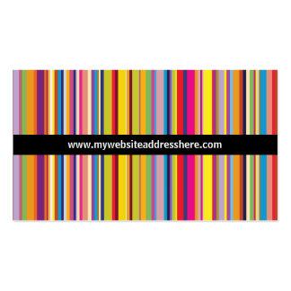Cartão de visita listrado do Web site do arco-íris