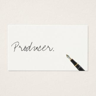 Cartão de visita livre do produtor do roteiro da
