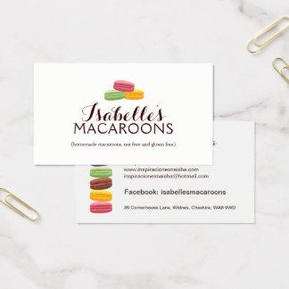 Cartão de visita lunático da padaria dos Macaroons