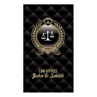 Cartão de visita luxuoso da obscuridade do advogad