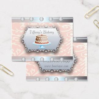 Cartão de visita luxuoso do boutique da padaria do