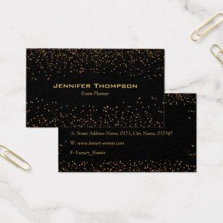 Cartão de visita luxuoso do ouro do brilho