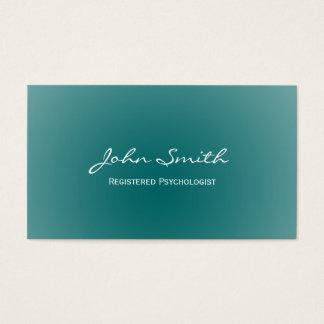 Cartão de visita macio do psicólogo do verde da