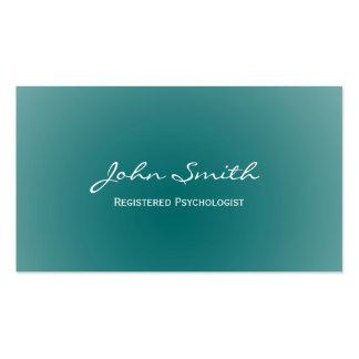 Cartão de visita macio do psicólogo do verde da ce