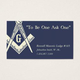 Cartão de visita maçónico