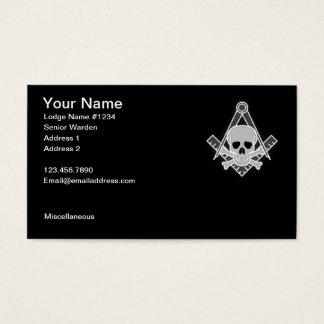 Cartão de visita maçónico 2