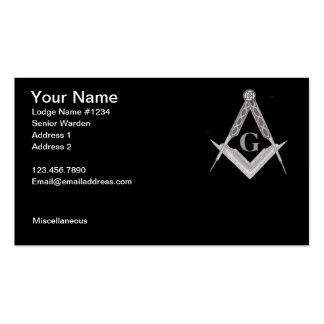 Cartão de visita maçónico 3