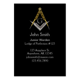 Cartão de visita maçónico 5