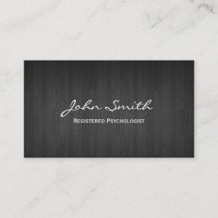 Cartão De Visita Madeira escura elegante do psicólogo