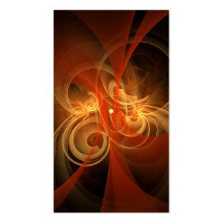 Cartão de visita mágico da arte abstracta da manhã