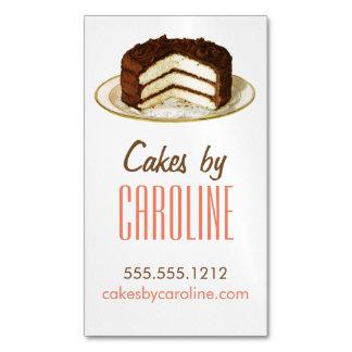 Cartão de visita magnético do bolo do vintage