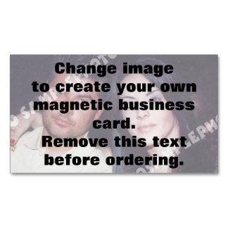 Cartão de visita magnético personalizado da foto cartão de visitas magnético