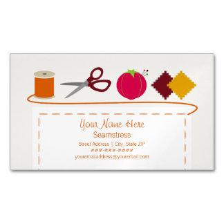 Cartão de visita magnético Sewing do tema