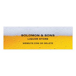 Cartão de visita magro da loja da cerveja do licor