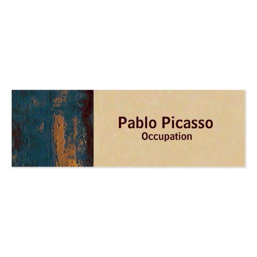 Cartão de visita magro do ~ moderno da pintura