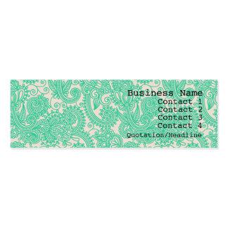 Cartão de visita magro moderno do teste padrão de