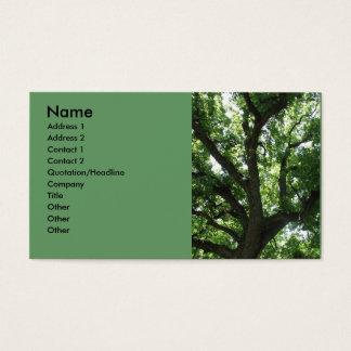 Cartão de visita majestoso da árvore