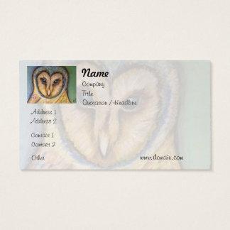 Cartão de visita majestoso da coruja
