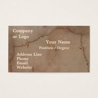 Cartão de visita manchado do cartão