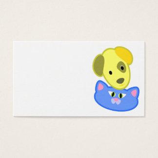 Cartão de visita maravilhoso do cão e gato
