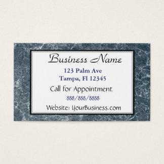 Cartão de visita marmoreado azul