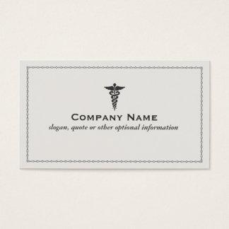 Cartão de visita médico do símbolo