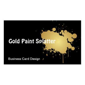 Cartão de visita metálico do Splatter da pintura d