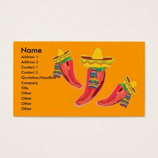 Cartão de visita mexicano do negócio da