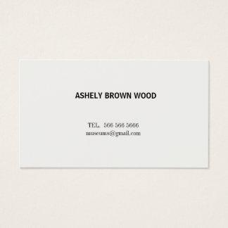 Cartão de visita minimalista branco simples