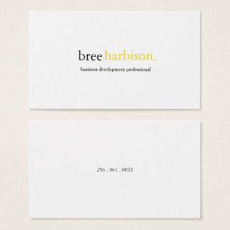 Cartão de visita minimalista de 2 cores