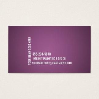 Cartão de visita minimalista de 2 impactos
