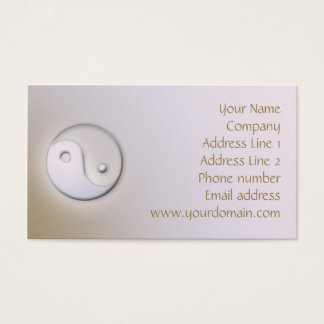 Cartão de visita minimalista de Yin Yang