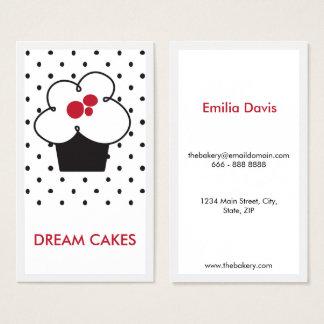 Cartão de visita minimalista do cupcake da padaria