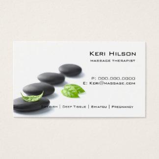 Cartão de visita minimalista do terapeuta da