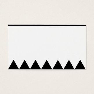 Cartão de visita minimalista do triângulo