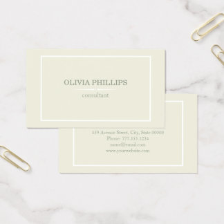 Cartão de visita minimalista do vintage
