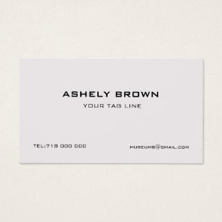 Cartão de visita minimalista gravado