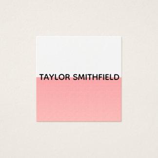cartão de visita minimalista moderno do pastel do