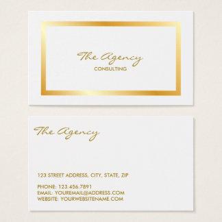 Cartão de visita minimalista na moda da folha de
