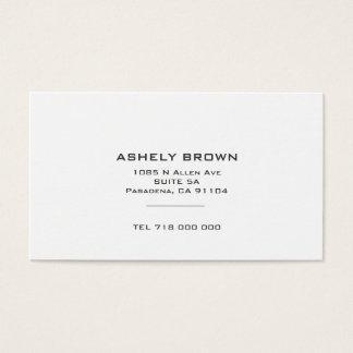 Cartão de visita minimalista padrão
