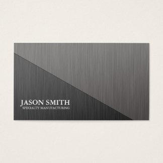 Cartão de visita mínimo de alumínio escovado