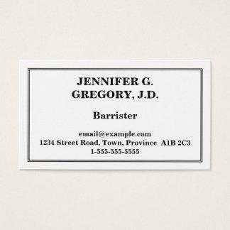 Cartão de visita mínimo do advogado
