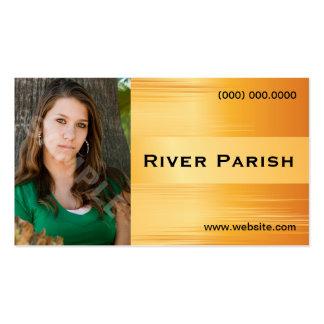 Cartão de visita modelo do Headshot do ator metáli