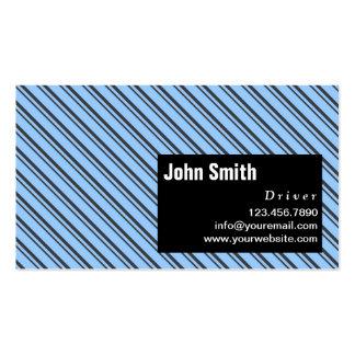Cartão de visita moderno azul do motorista das lis