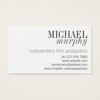 Cartão de visita moderno clássico profissional