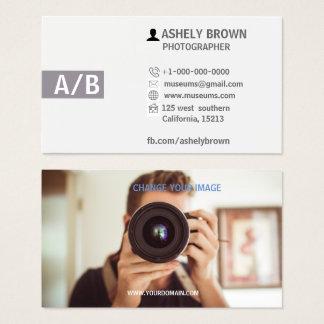 Cartão de visita moderno da fotografia do